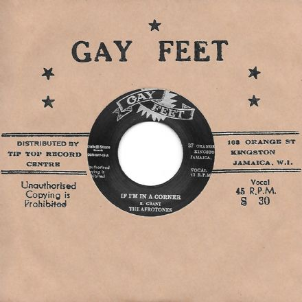 Afrotones - If I'm In A Corner / Lyn Taitt & The Jets - The Hip Hug (Gay Feet/Dub Store Rec.) JPN 7""